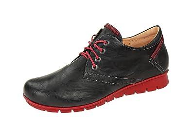 Think Schuhe MENSCHA schwarz Damenschuhe bequeme Slipper 3