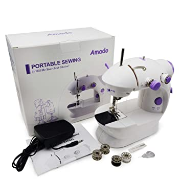 Amado Portable Sewing Double Speed Mini Sewing Machine