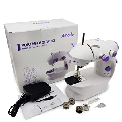 Amazon Portable Sewing Amado Portable Sewing Double Speed Mini Fascinating White Sewing Machine