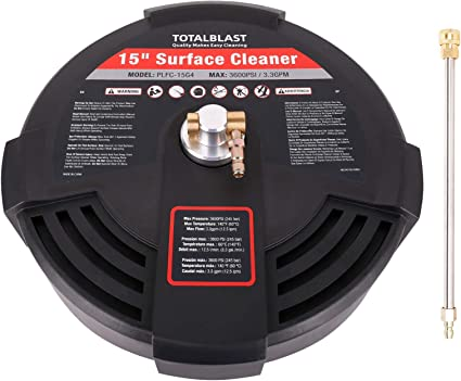 """15/"""" Surface Cleaner 3600 PSI with 1//4/"""" Quick Connect Surface Pressure Washer"""