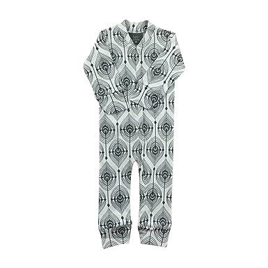 1d077391ad4 Amazon.com: Kate Quinn Organics Unisex-baby Zipper PJs, 6-12M (Grey  Feather): Clothing