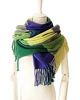 Women's Plaid Blanket Long Shawl Big Grid Winter Warm Lattice Large Scarf Wrap