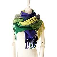 Womens Scarf - Warm Tartan Blanket Shawl Ladies Scarves for Winter