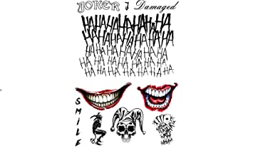 Temporary Tattoo Set The Joker From Suicide Squad By Fancy Pants