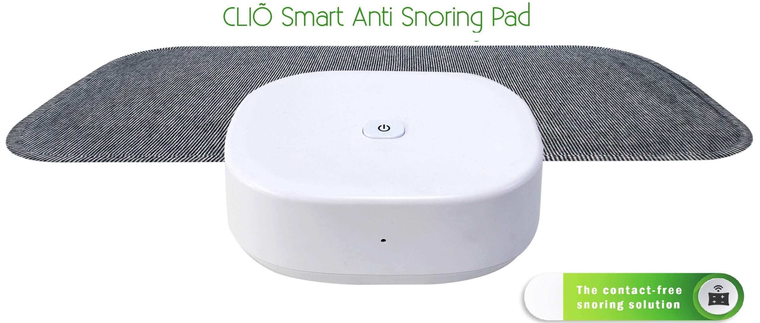 Cliõ Smart Anti Snoring Solution Stop Snore Stopper Non Invasive Devices No Strap No Mouthpiece aids Auto Inflatable Insert Pad Pillow Contact-Free Effective Silent Comfortable for Men, Women, Kids