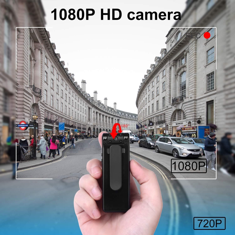 Cámara Oculta-Cámara espía-Mini cámara Corporal 6 Horas Duración de la batería Tarjeta de 32GB incluida Cámara espía 1080P Detección de Movimiento Cámara Oculta Personal para el hogar y la Oficina: Amazon.es: Electrónica