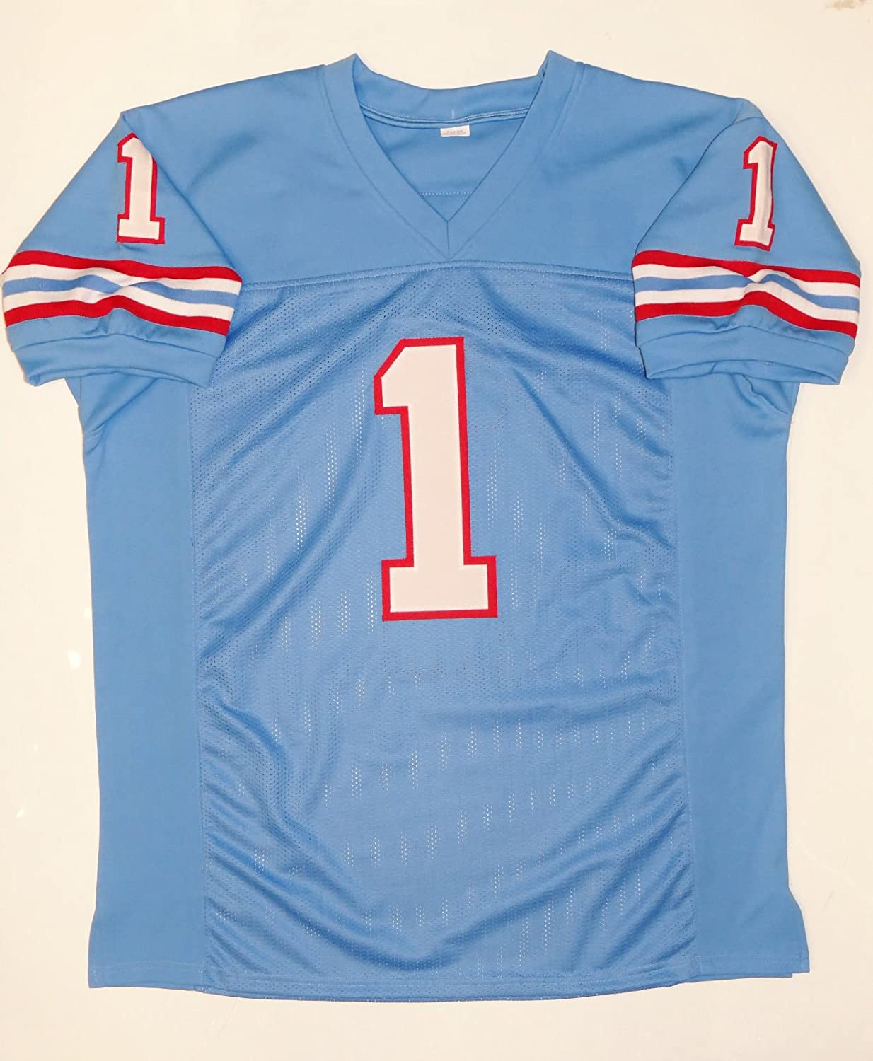 e27b9e041 Warren Moon Autographed Blue Pro Style Jersey W HOF- JSA W Authenticated at  Amazon s Sports Collectibles Store