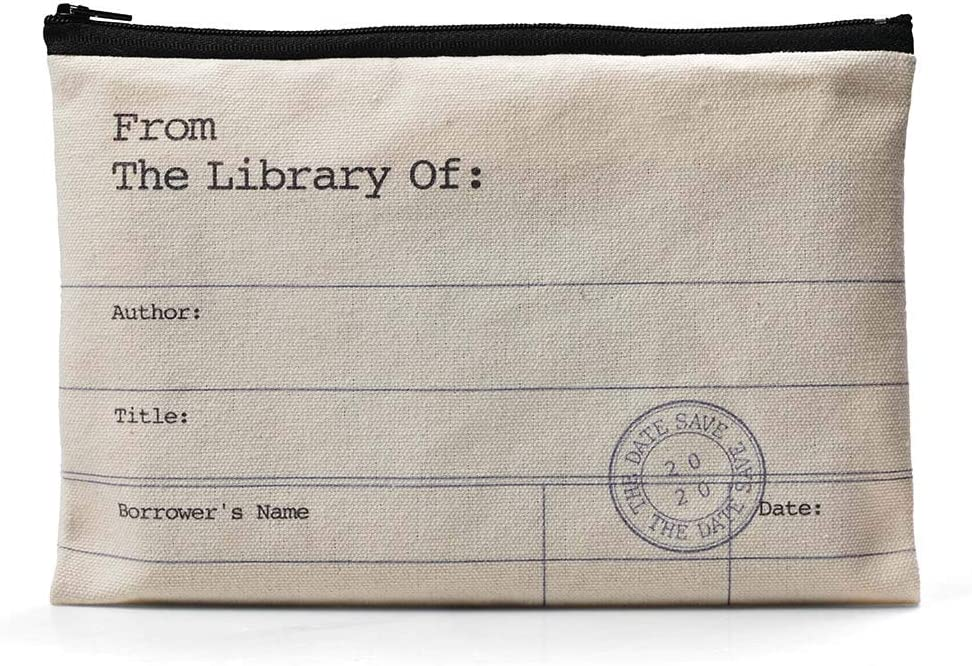 Library Card Themed Pouch