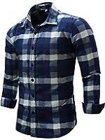 Neleus Men's Long Sleeve Work Shirt