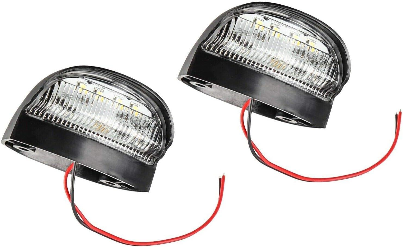 Autolight 24 I 2 X Led Kennzeichenbeleuchtung Nummernschildbeleuchtung Wasserdicht 12v 24v Anhänger Pkw Lkw Stvo Zulassung Auto