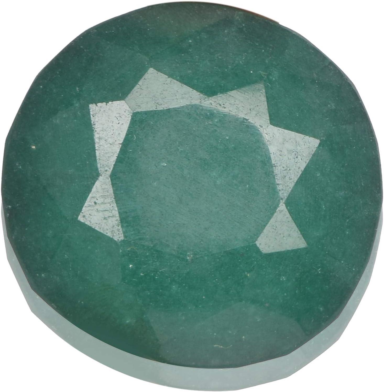 Real Gems Piedra Suelta de Esmeralda facetada de Gemas Reales 133.50 CT Piedra de Esmeralda de Corte Redondo para Colgante, Collar de Piedras Preciosas Sueltas de Esmeralda