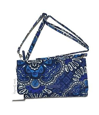 999662957 Amazon.com: Vera Bradley Wallet Crossbody - Blue Tapestry: Clothing