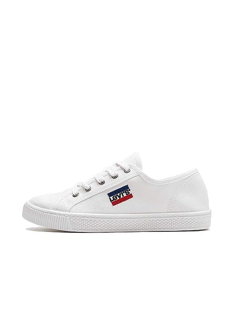 Levis Mujer Sneaker Malibu S Brilliant White: Amazon.es: Zapatos y complementos