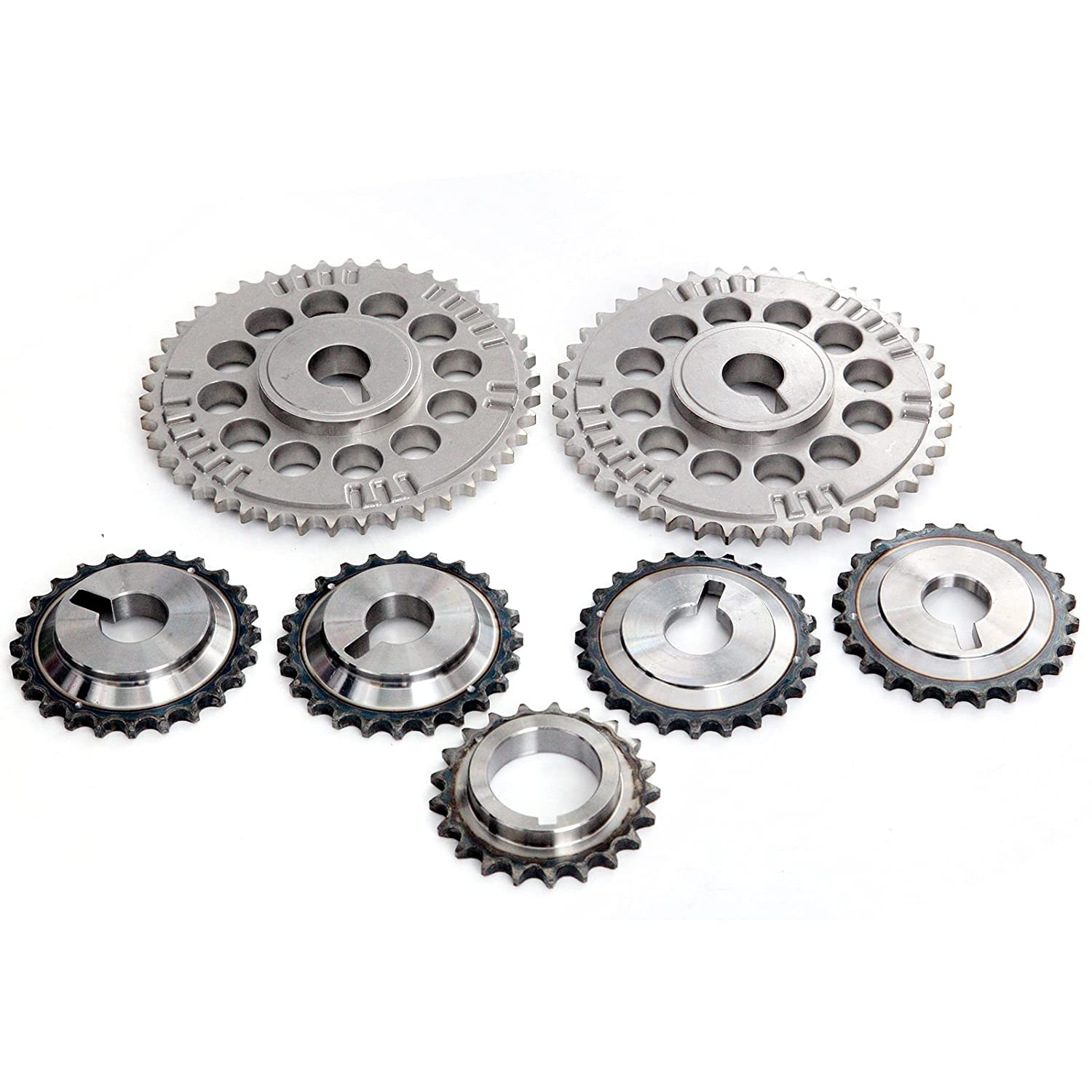 Amazon.com: SCITOO TKNI033 Timing Chain Kit Tensioner Guide Rail Crank Sprocket Cam Sprockets Compatible 01-04 Nissan Pathfinder Infiniti QX4 3.5L DOHC: ...