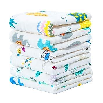 Amazon.com: NTBAY 6 capas de paños de bebé de muselina ...