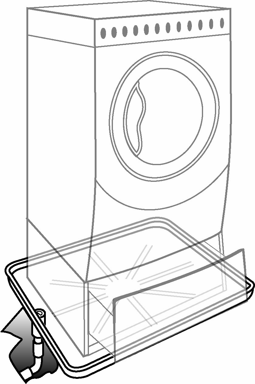 Camco Front-Load Washing Machine Drain Pan, Protects Your Floor from Washing Machine Leaks, OD 30.5'' x 34.5'' x 1.64'' (20786)