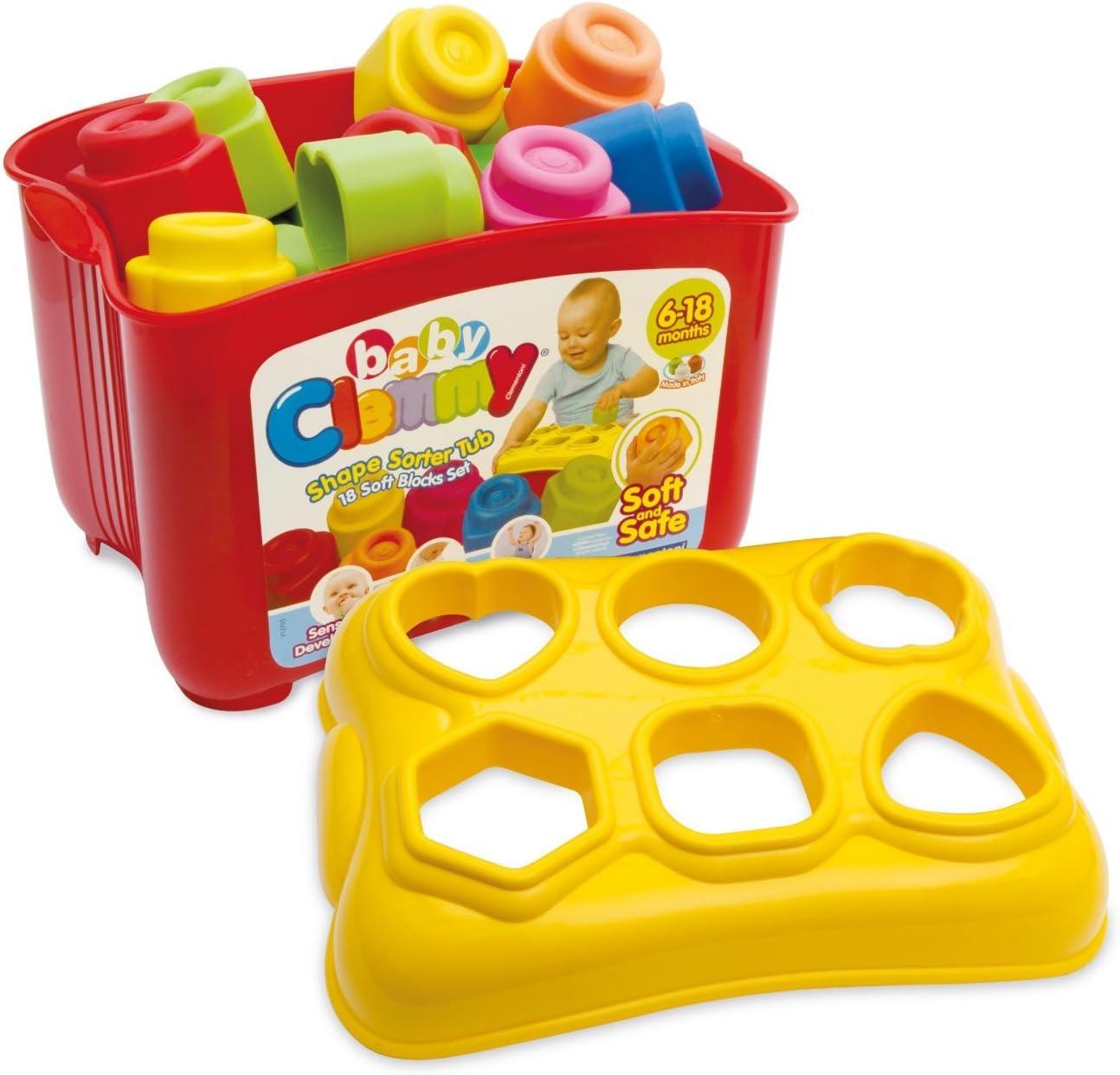 Clementoni Baby Clemmy Shape Sorter Basket with 18 Soft Blocks