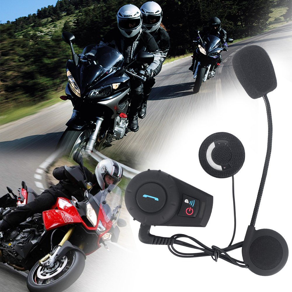 FreedConn 2 piezas moto BT Intercom Bluetooth Multi moto intercomunicador impermeable casco 500M: Amazon.es: Coche y moto