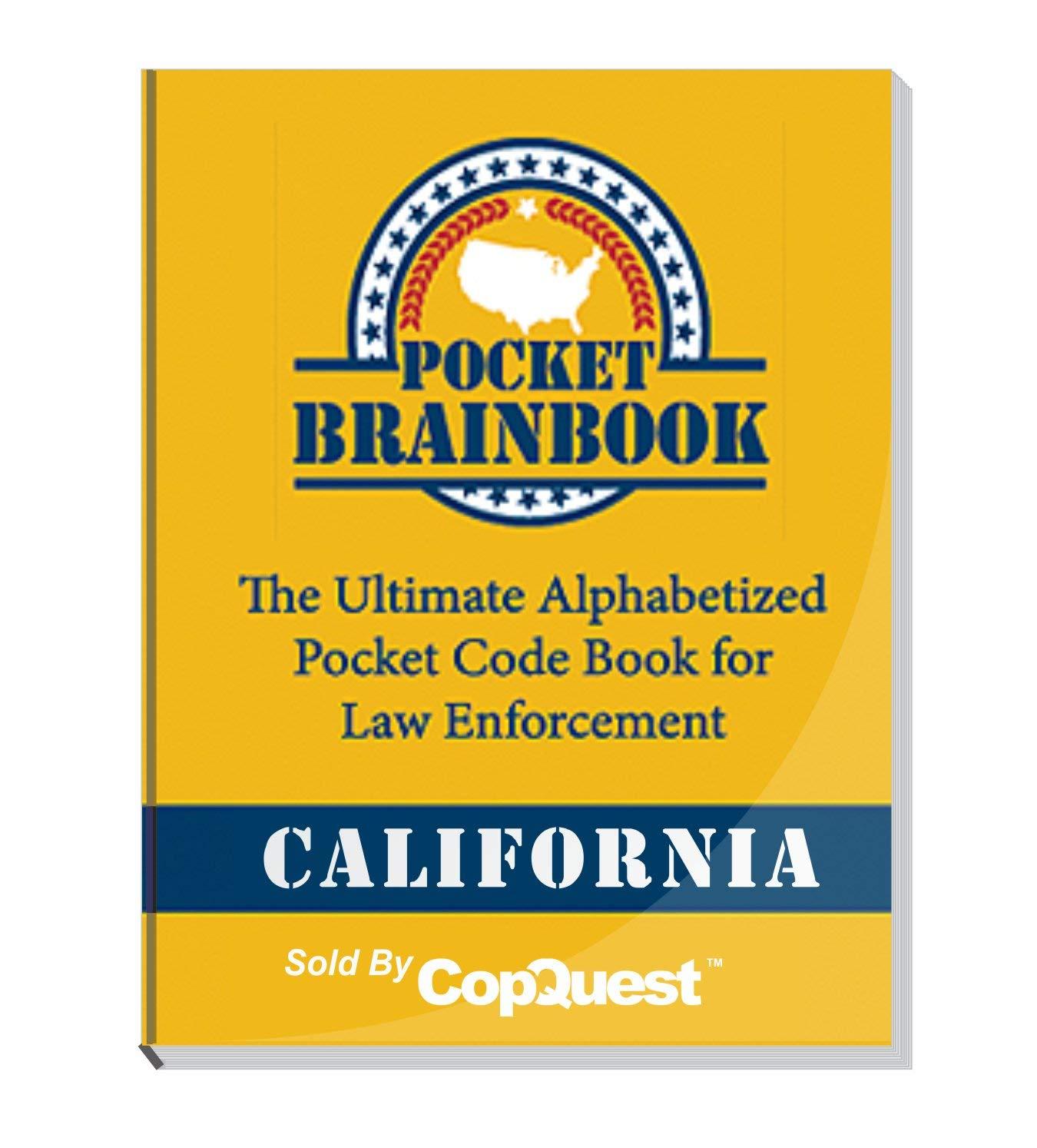 Pocket Brainbook - California Police Edition - 2019 by POCKET BRAINBOOK