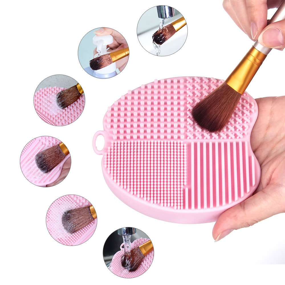 MelodySusie Brush Cleaning Mat for Makeup Brushes