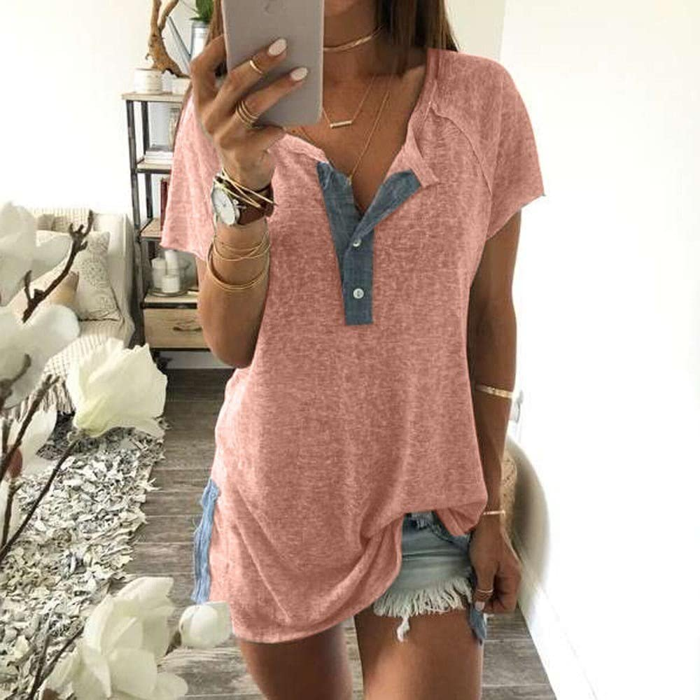 Long Sleeve Casual Lace Round Neck Solid Patchwork Tunics T-Shirts Pullovers Tops UOKNICE BLOUSE for Womens