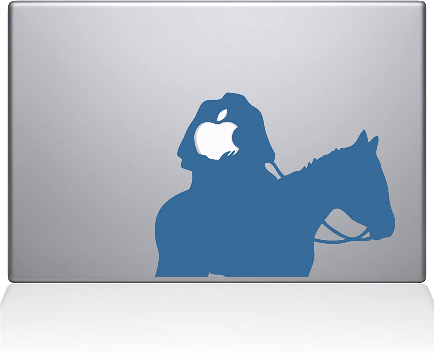"The Decal Guru Headless Horseman MacBook Decal Vinyl Sticker - 15"" MacBook Pro (2015 & Older) - Light Blue (1080-MAC-15P-LB)"