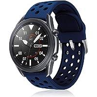 YPSNH Compatibel voor Samsung Gear S3 Frontier Bandje Zachte Siliconen Dual Color 22mm Horlogeband Vervanging Ademende…