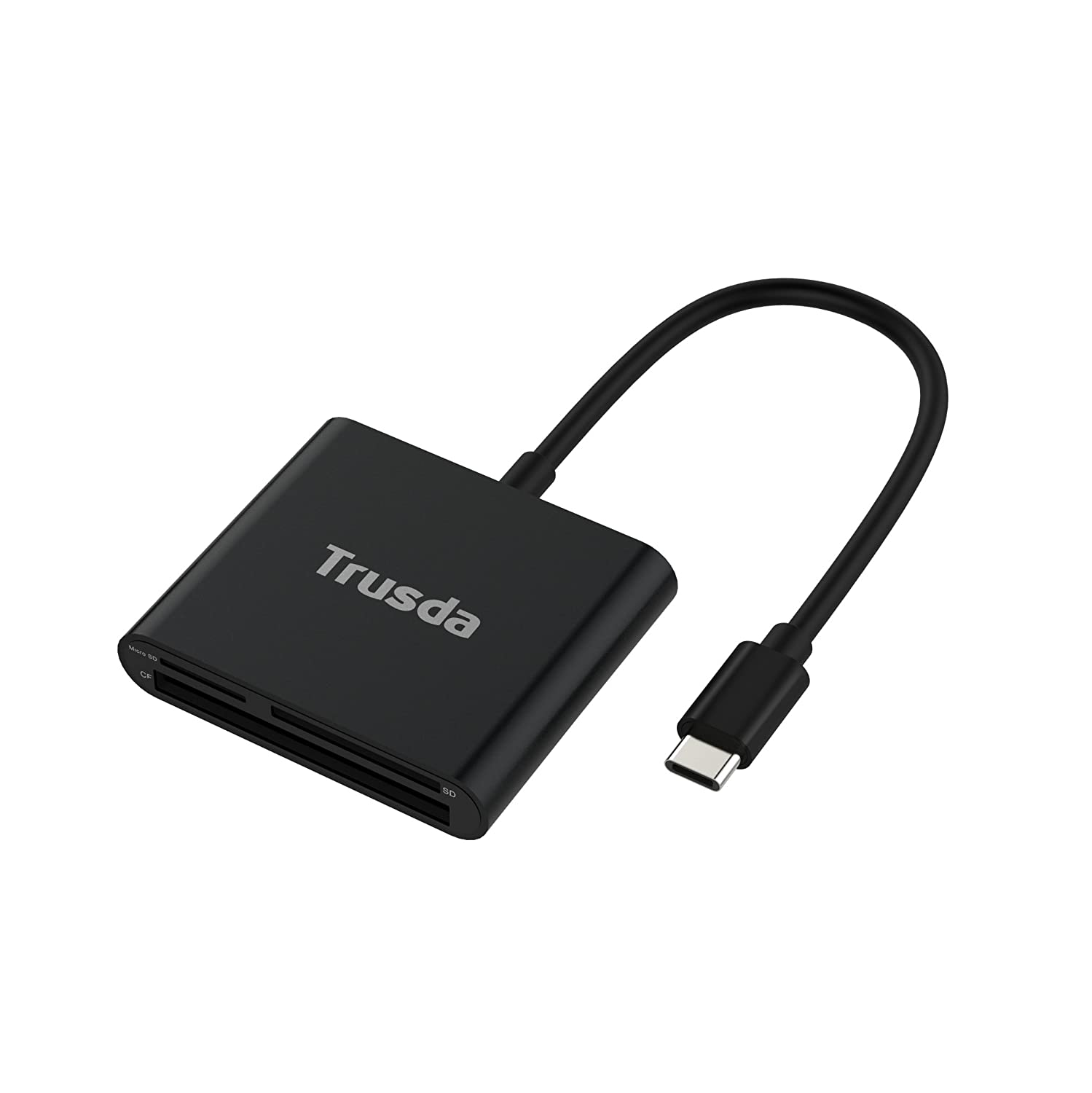 Lettore di Schede SD,Trusda Type C Lettura Schede,Card Reader Memoria Micro SD/TF/SDHC/SDXC/CF con Cavo USB C Superspeed 5Gbps per Macbook Pro,Chromebook Pixel,HUAWEI P9/P10,Mate10, Samsung Galaxy S8 CR2C