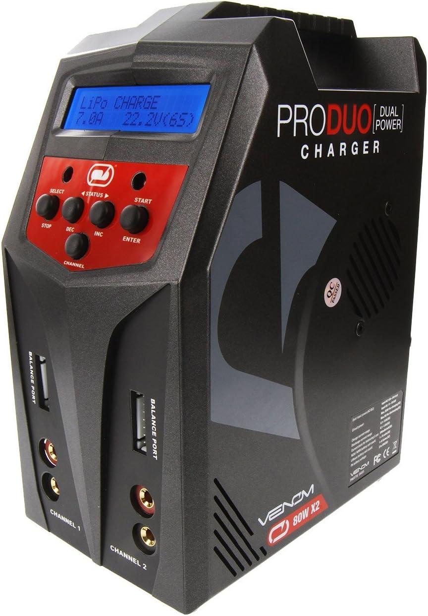 Venom Pro Duo Dual 80W AC//DC LiPo LiHV NiMH NiCd 7-Amp Battery Charger 6S ARRMA