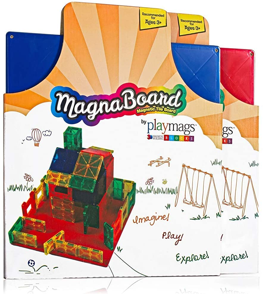 Playmags Building Board - Magnetic Starting Building Plate or Other Magnetic Tiles - Great Add on to Any Magnetic Tile Toy - Colors May Vary: Toys & Games