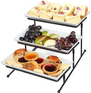 Amazon.com | ChefLand 3 Tier Rectangular Serving Platter, Three ...