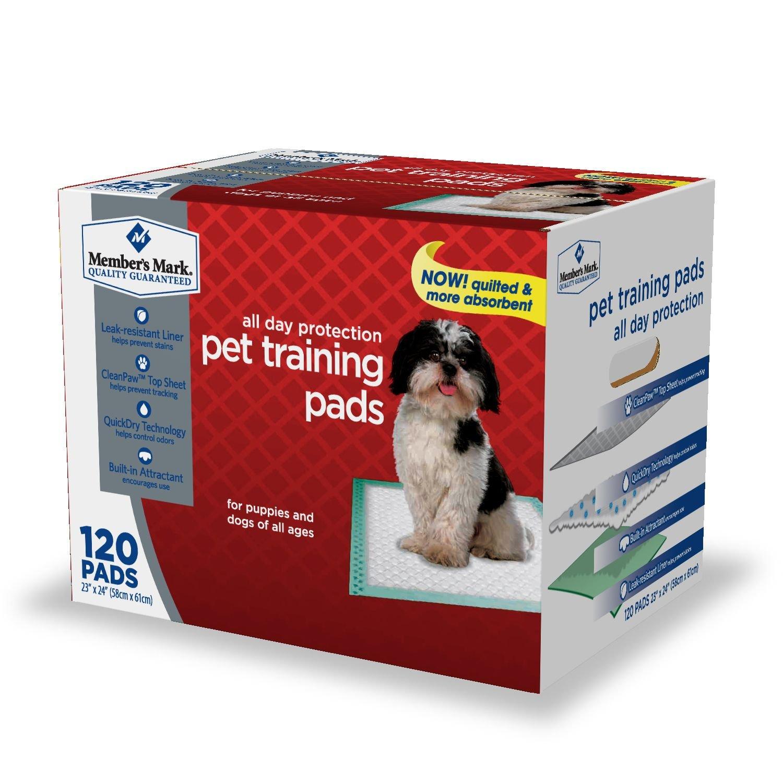 Member's Mark Pet Training Pads, 23'' x 24'' (120 ct.) (pack of 6)
