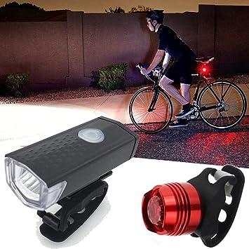 oldeagle - Juego de Luces LED para Bicicleta (USB, Recargables ...