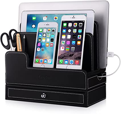 EasyAcc Charging Stations for RAVPower 60W 12A 6-Port Multiple Devices Double-Deck Docking Station Organizer for Anker USB Charger (Without Charger) ...