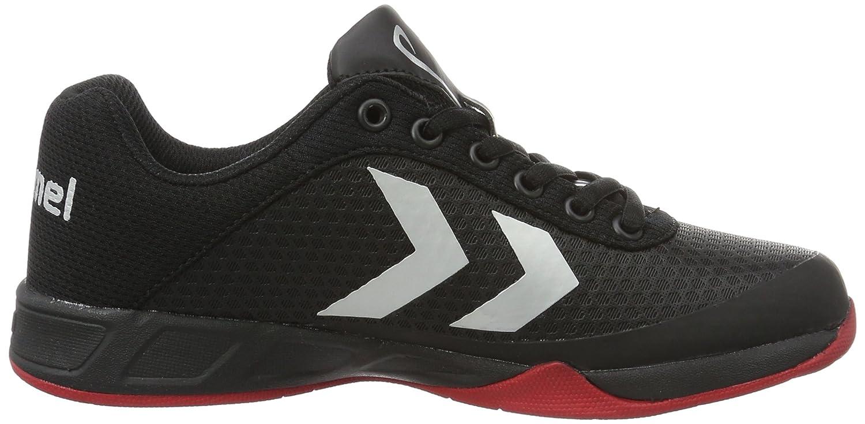 Unisex Adults Root Play Trophy Fitness Shoes, Schwarz/Rot/Blau Hummel