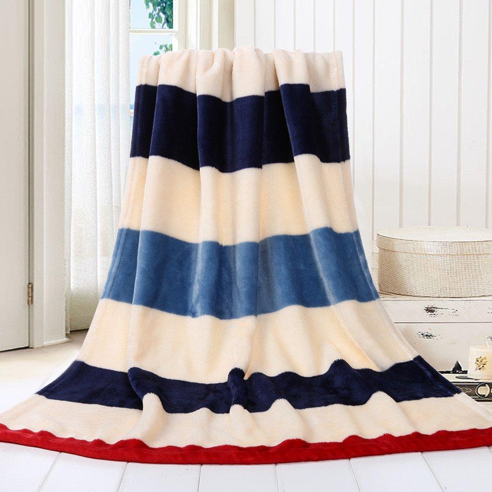 Butifullove Plush Fleece Blanket Soft Warm Throw Rug Printing Sofa Bed Blanket Bedding 70X100CM (Multicolor A)
