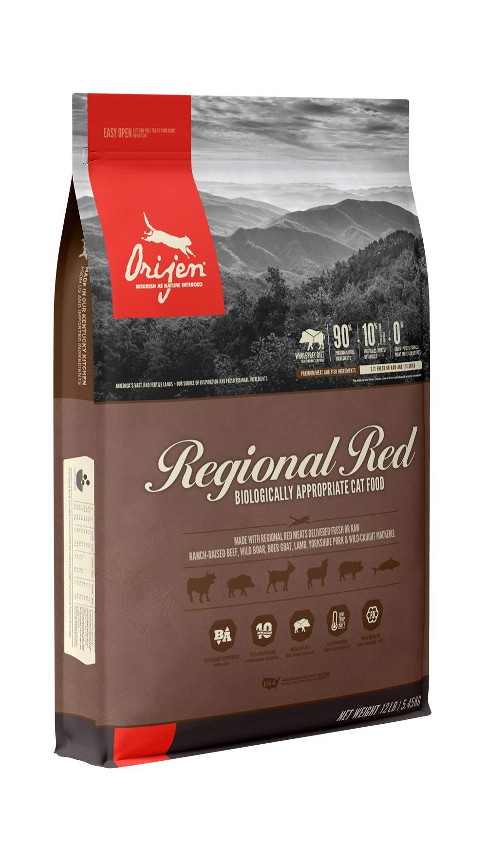 ORIJEN Dry Cat Food, Regional Red, Biologically Appropriate & Grain Free by Orijen