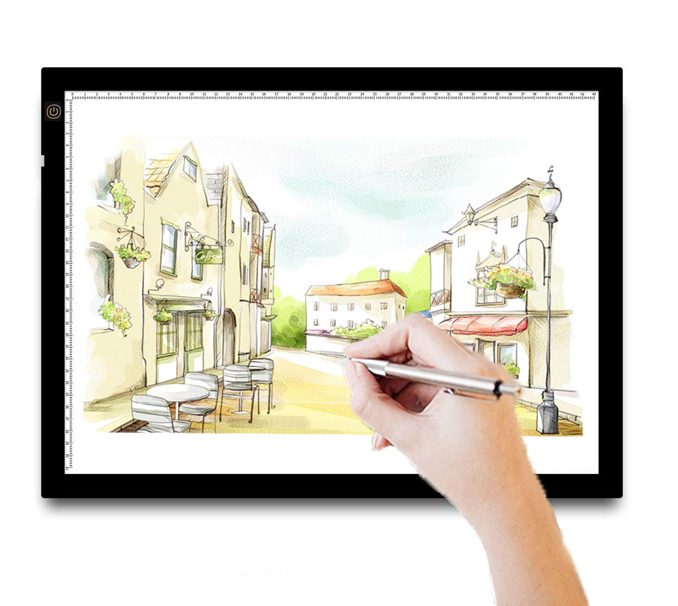A3 Light Box Tracing Light Box Pad Ultra-Thin Led Light Table Drawing Light Tracer Board with Dimmable Brightness for 5D Diamond Painting, Stencilling, Sketching, X-ray Viewing- USB Powered