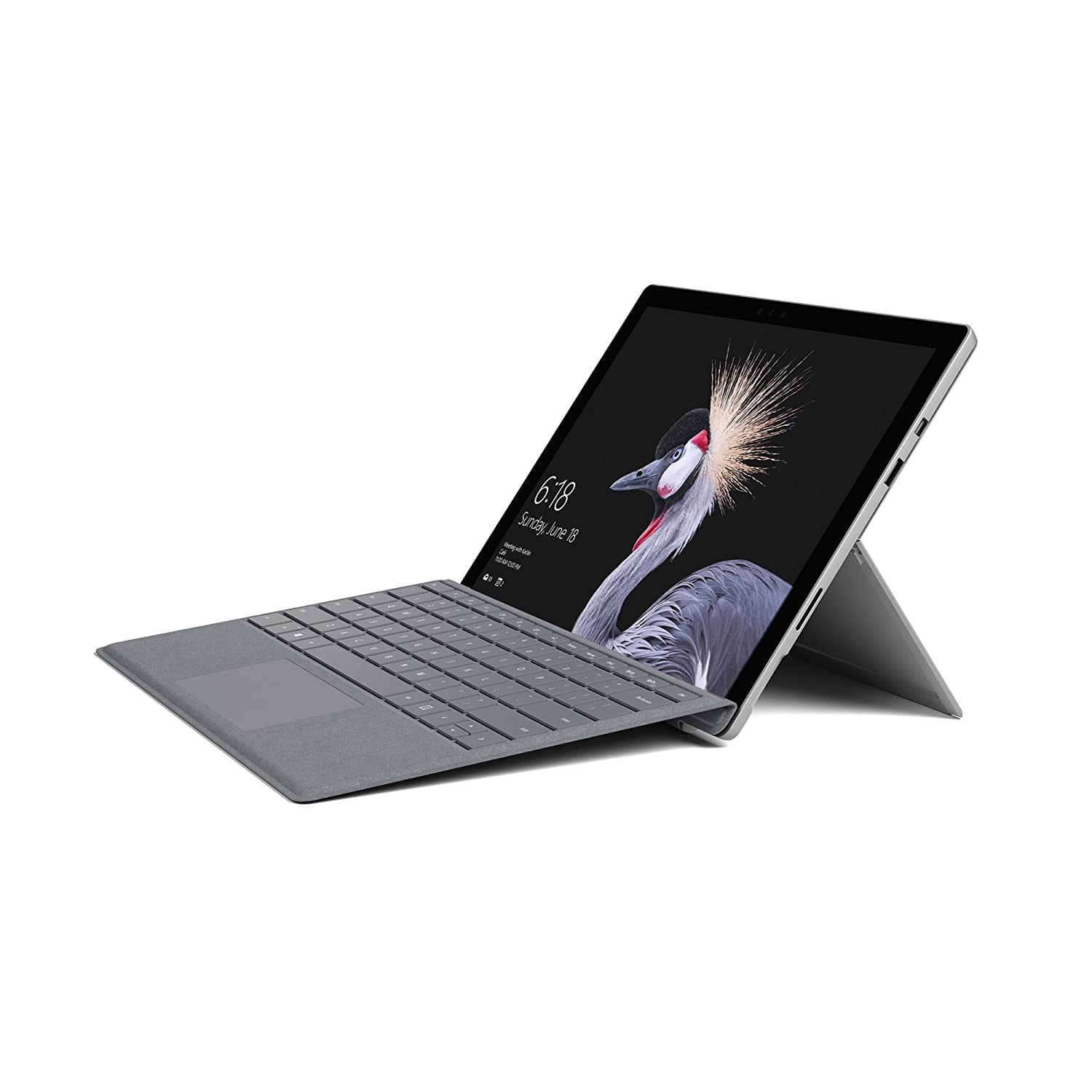 Portátil y tableta 2 en 1 Microsoft Surface Pro 31,24 cm (12,3 pulgadas) (Intel Core i5, 128 GB SSD, 8 GB de RAM, Win 10 Pro) incluye Teclado Surface Pro Signature Type Cover (platino gris).