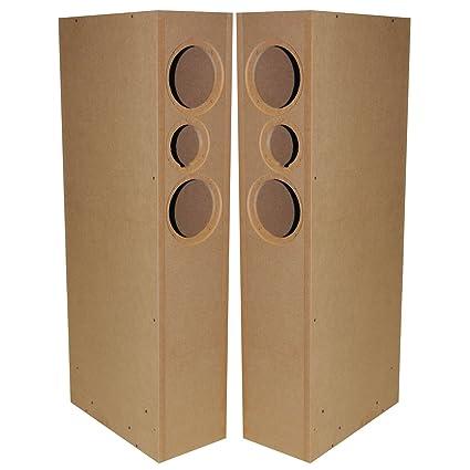 Parts Express TriTrix MTM TL Knock Down CNC Speaker Cabinet Pair