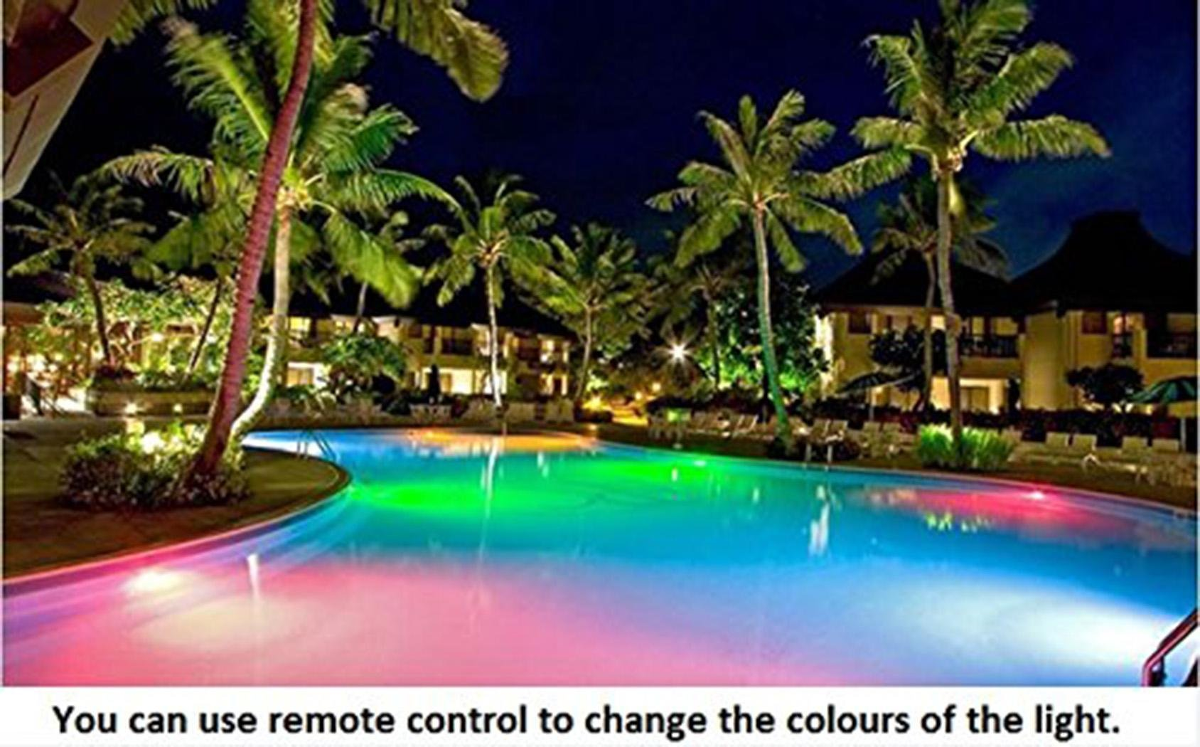 Swimming Pool LED Lights, 12V 7 Colors Fountains Lamp Underwater Swimming Pool Light with Remote Control