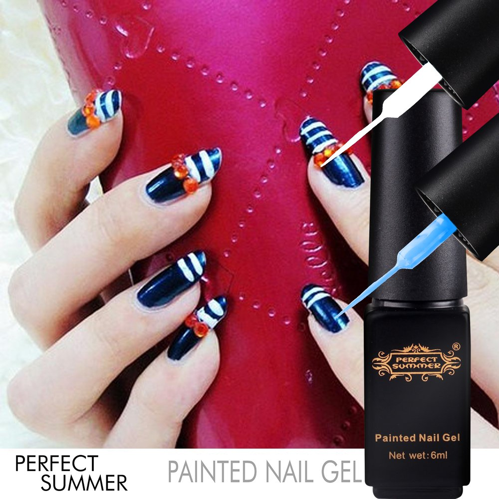 Gel pen as a tool for artistic nail painting