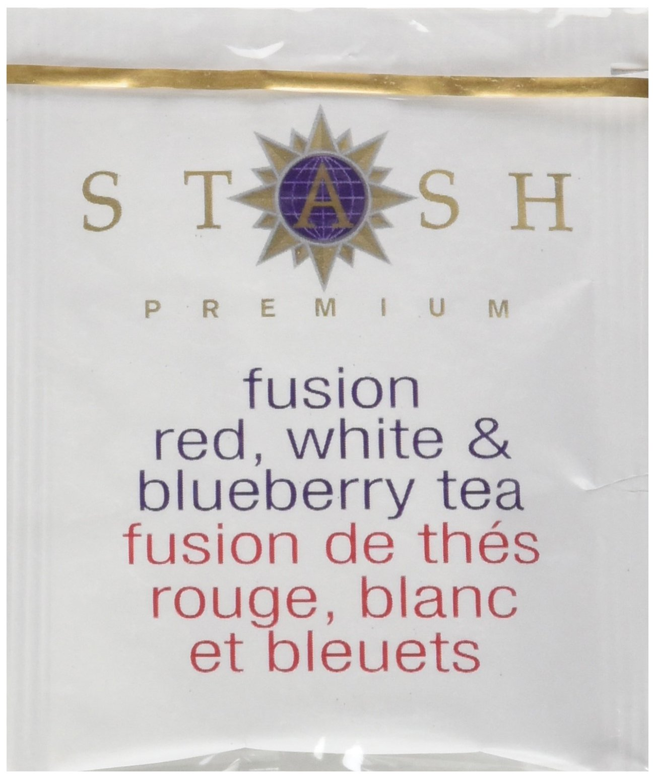 Stash Tea Fusion Red White & Blueberry Tea 10 Count Tea Bags in Foil (Pack of 12) (Packaging May Vary) Individual Tea Bags for Use in Teapots Mugs or Cups, Rooibos and White Tea, Brew Hot or Iced