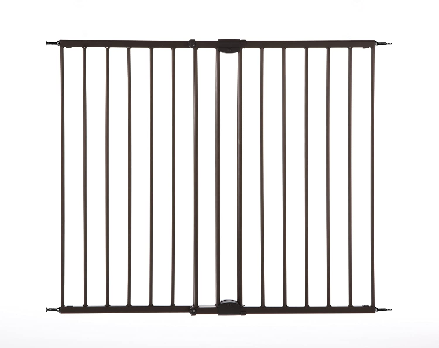 """Easy Swing & Lock Gate"" by North States: Ideal for standard or wider stairways, swings to self-lock. Hardware mount. Fits openings 28.68"" to 47.85"" wide (31"" tall, Bronze) North States Industries 4950"
