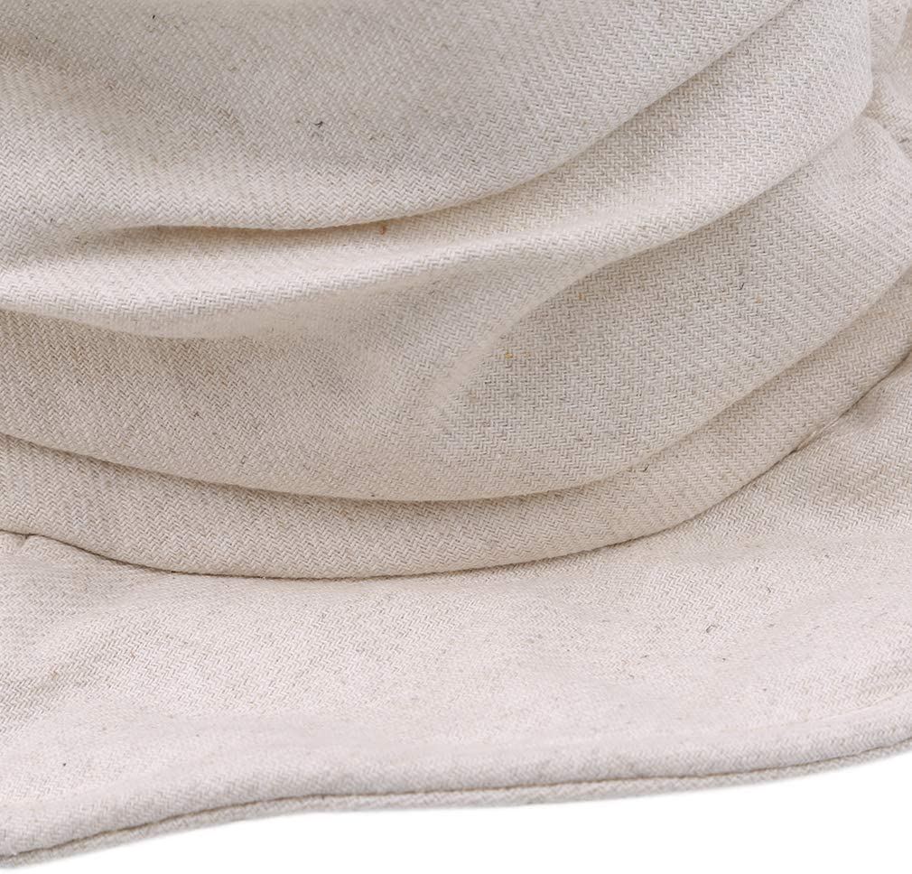 r/églable et d/écontract/é Chapeau de Soleil pour activit/és de Plein air Beige Chapeau de p/êcheur SUNSKYOO en Coton Unisexe