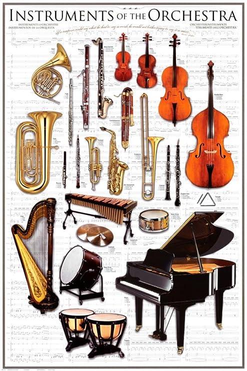 24 x 36) son instrumentos de orquesta Sinfónica de cartel de ...