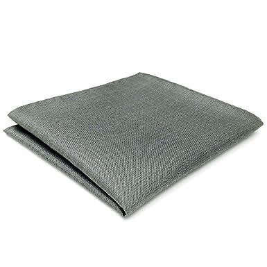 Shlax&Wing Nuevo Hombre Seda Traje De Negocios Pañuelo De Bolsillo Para Gris Color Sólido 32cm