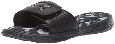 790cf3b9c704 Under Armour Boys  Ignite Impact V Slide Sandal Black (001) Pitch Gray