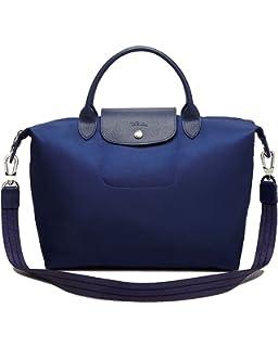 Longchamp Le Pliage Neo Medium Handbag with Strap in Navy Blue