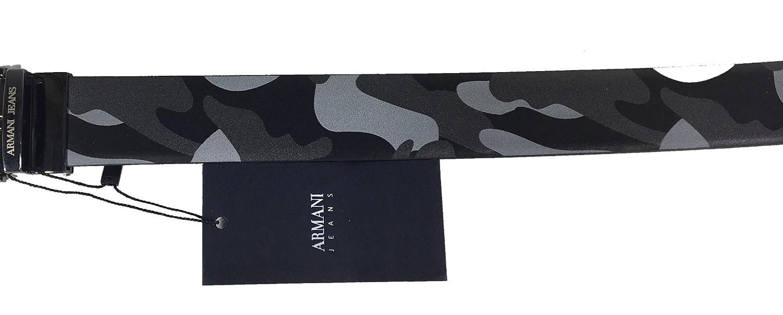 by Armani Jeans - Ceinture - Homme Multicolore NERO   CAMO GRIGIO 105 cm   Amazon.fr  Vêtements et accessoires 39b350ba59a